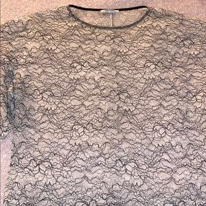 Zara Lace Top with Short Bell Sleeves.